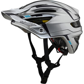 Troy Lee Designs A2 MIPS casco per bici, sliver silver/burgundy